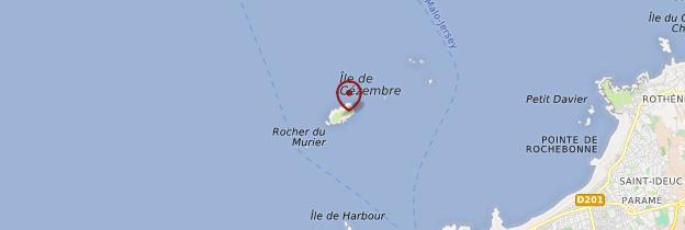 Carte ïle de Cézembre - Bretagne