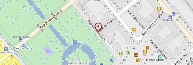 Carte Parc de Bercy - Itzhak-Rabin - Paris