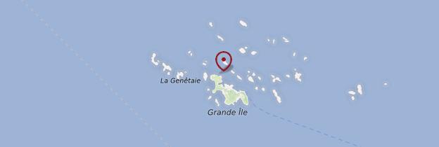 Carte Îles Chausey - Normandie