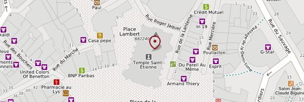 Carte Temple Saint-Etienne de Mulhouse - Alsace