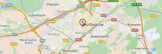 Carte Mulhouse - Alsace