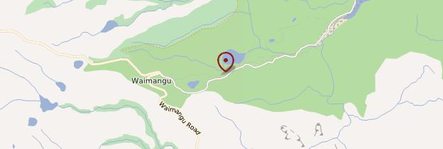 Carte Terrasse Warbrick - Nouvelle-Zélande