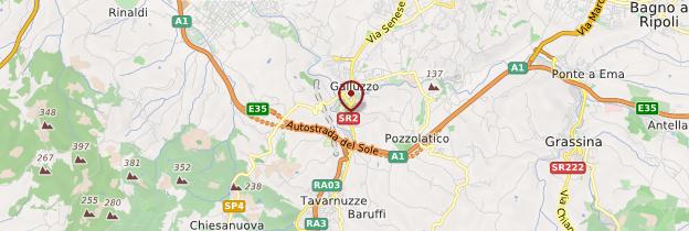 Carte Certosa del Galluzzo - Toscane