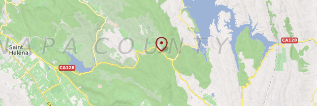Carte Route du vin californien - Californie
