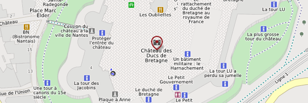 Carte Château des ducs de Bretagne - Nantes