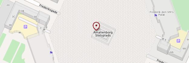 Carte Palais d'Amalienborg - Copenhague
