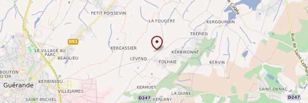 Carte Parc naturel régional de Brière - Pays de la Loire