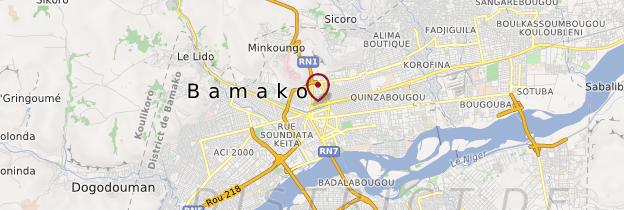 Carte Bamako - Mali