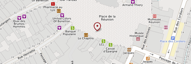 Carte Place de la Réunion de Mulhouse - Alsace