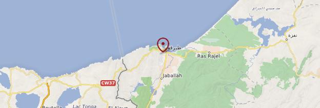 Carte Tabarka - Tunisie