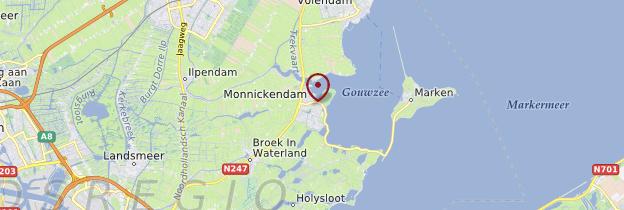 Carte Monnickendam - Pays-Bas