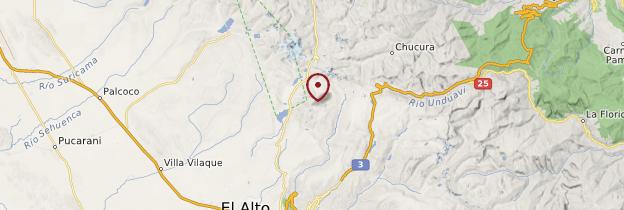 Carte Chacaltaya - Bolivie