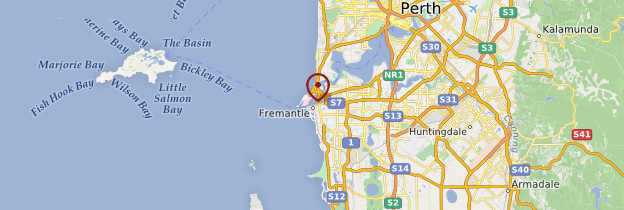 Carte Fremantle - Australie