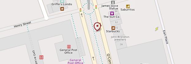 Carte O'Connell Street - Dublin