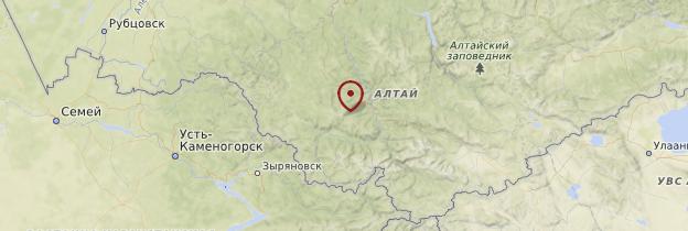 Carte Montagnes de l'Altaï - Russie