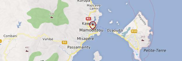 Carte Dzaoudzi - Mayotte