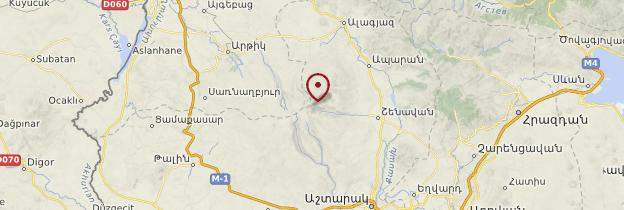 Carte Chaîne de l'Aragats - Arménie