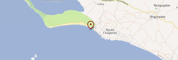 Carte Agios Géorgios - Corfou