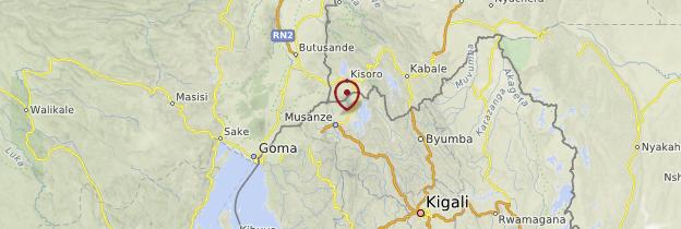 Carte Ruhengeri - Rwanda