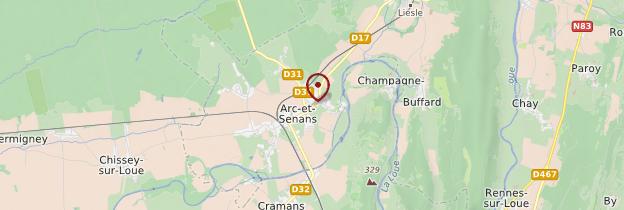 Carte Arc-et-Senans - Franche-Comté