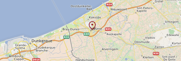 Carte Furnes (Veurne) - Belgique