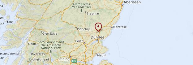 Carte Cimetière de Glamis - Écosse