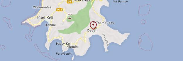 Carte Dapani - Mayotte