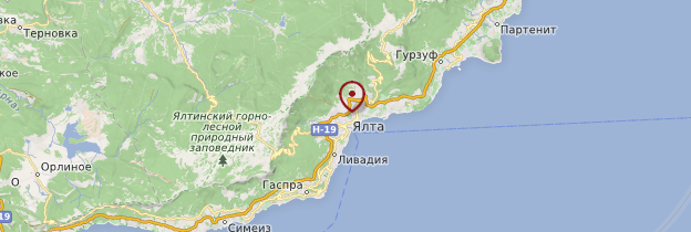 Carte Yalta - Ukraine