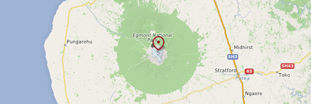 Carte Egmont National Park - Nouvelle-Zélande