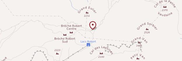 Carte Lac Robert - Alpes