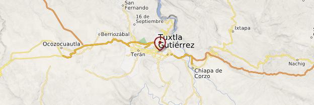 Carte Tuxtla Gutiérrez - Mexique