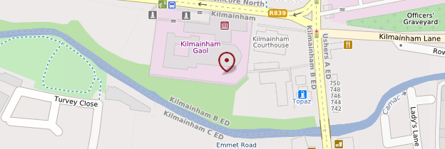 Carte Kilmainham Jail - Dublin