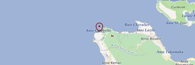 Carte Anse Georgette - Seychelles