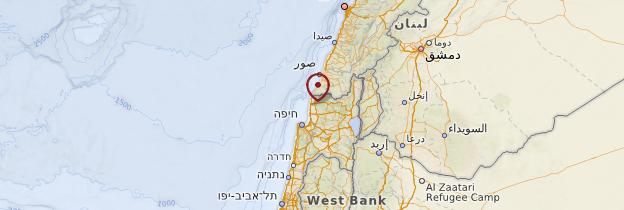 Carte Rosh Anikra - Israël, Palestine