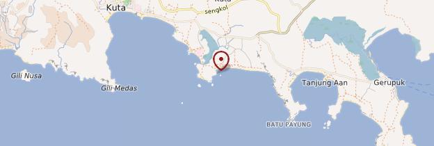 Carte Plage de Kuta - Indonésie
