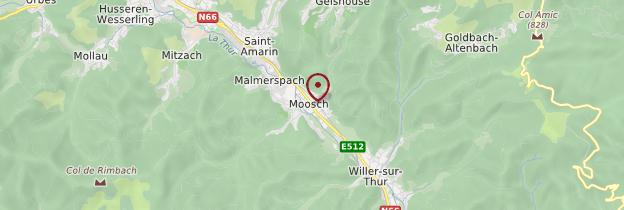 Carte Moosch - Alsace