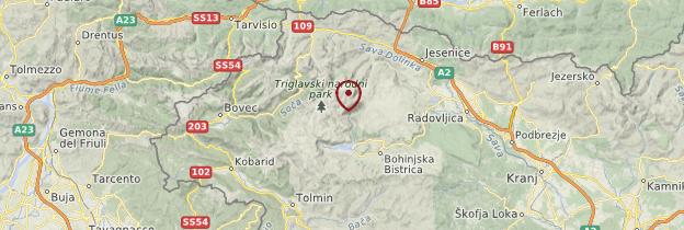 Carte Parc national du Triglav - Slovénie