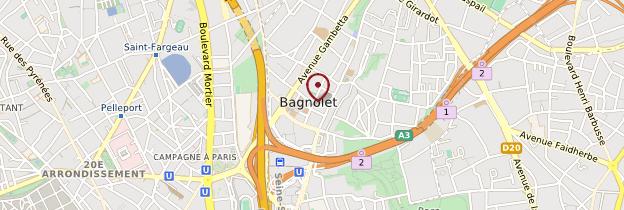 Carte Bagnolet - Île-de-France