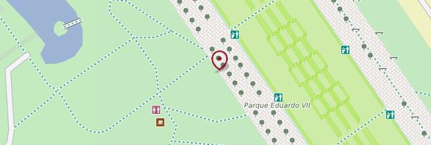 Carte Parque Edouardo VII - Lisbonne