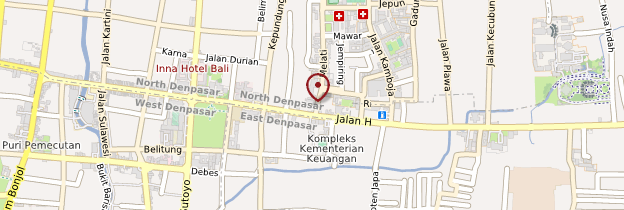 Carte Marché de Denpasar (Pasar Bedung) - Bali