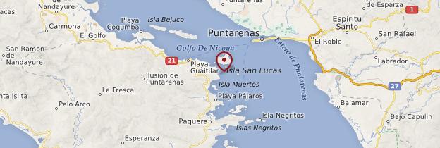 Carte Isla Tortuga - Costa Rica
