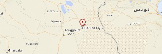 Carte Algerie El Oued.El Oued Hauts Plateaux Et Atlas Saharien Guide Et Photos