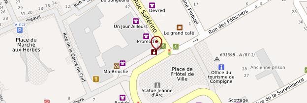 Carte Hôtel de ville de Compiègne - Picardie