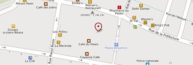 Carte Place du Palais-de-Justice - Nice
