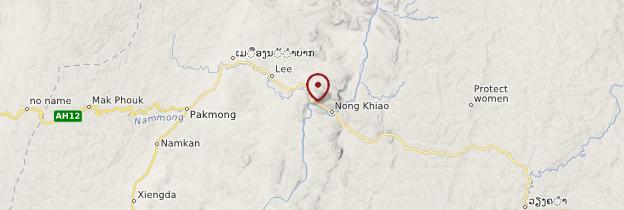 Carte Nong Khiaw - Laos