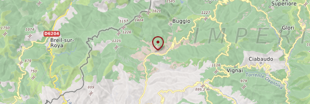 Carte Église de Pigna - Italie