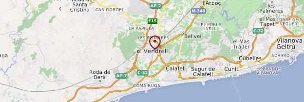 Carte El Vendrell - Catalogne