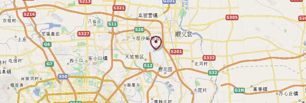 Carte Aéroport de Pékin (Shoudu jichang) - Pékin (Beijing)
