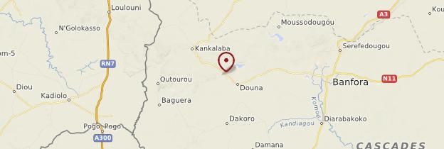 Carte Pics de Sindou - Burkina Faso