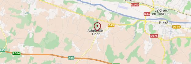 Carte Athée-sur-Cher - Châteaux de la Loire